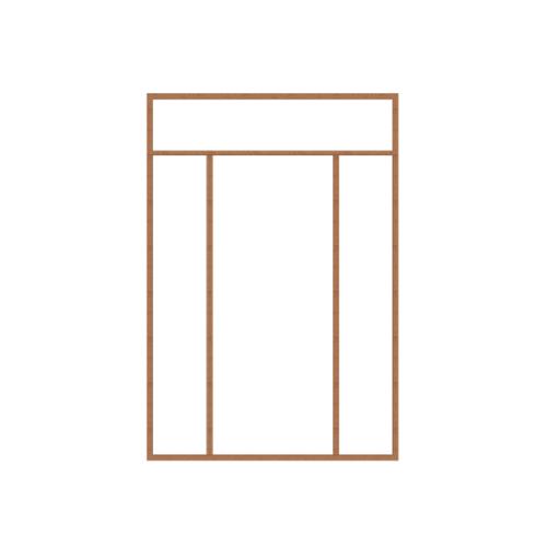 MAZTERDOOR วงกบประตูไม้เนื้อแข็ง  ขนาด160x240cm. SET6