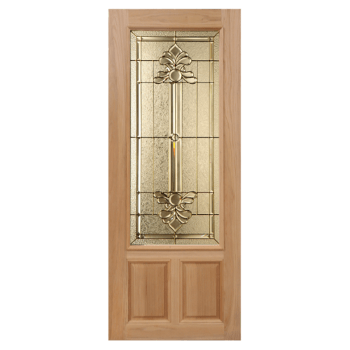 MAZTERDOOR ประตูกระจกสยาแดง  90x220cm.  LOTUS-08