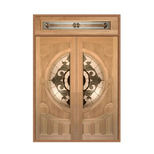 MAZTERDOOR  ชุดประตูไม้สยาแดง  160X200 cm.(ทำสี) SET 2 VANDA-01