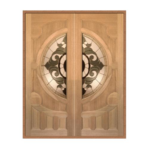 MAZTERDOOR SET 1 ประตูกระจกไม้สยาแดง 180X200 cm.  VANDA-01