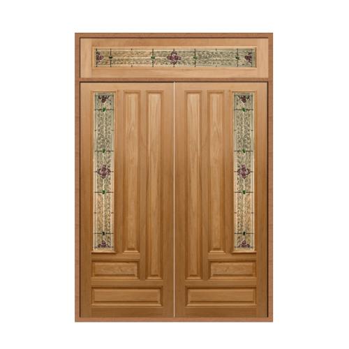 MAZTERDOOR SET 2 ประตูกระจกไม้นาตาเชีย 160X240 cm.  Jasmine-06A
