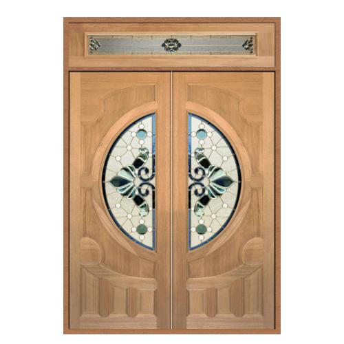MAZTERDOOR SET 2 ประตูกระจกไม้สยาแดง  160X240 cm.  VANDA-08