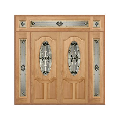 MAZTERDOOR SET 4 ประตูกระจกไม้จำปาร์การ์  240X245 cm. ORCHID-08