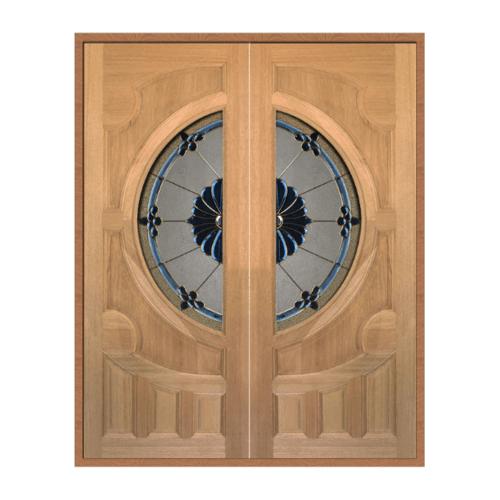 MAZTERDOOR SET 1 ประตูกระจกไม้นาตาเซีย 180X200 cm.  VANDA-06