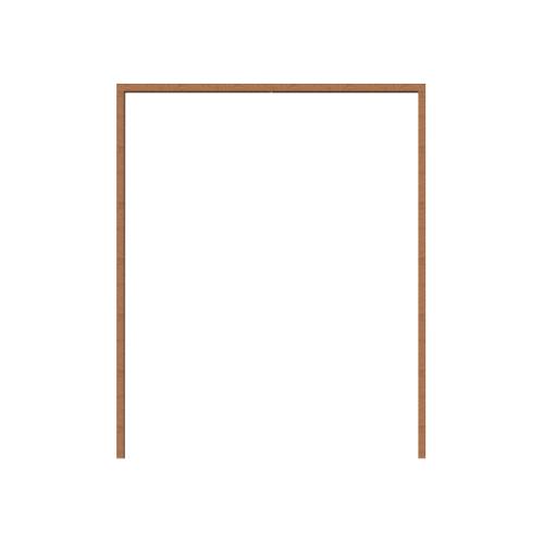 MAZTERDOOR วงกบประตูไม้เนื้อแข็ง  ขนาด145X240 cm.