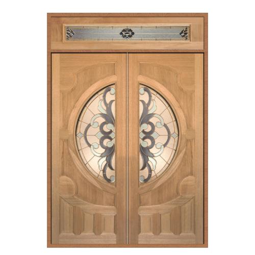 MAZTERDOOR SET 2 ประตูกระจกสยาแดง 160X240 cm.  VANDA-03