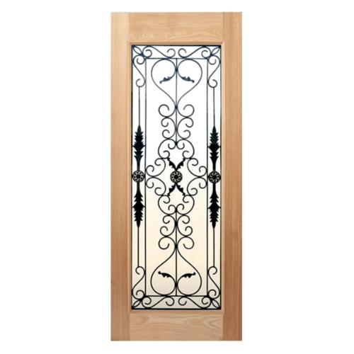MAZTERDOOR ประตูกระจกไม้สยาแดง(ทำสี)  80X200 cm. STMD-001