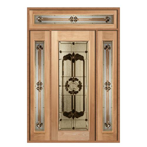 MAZTERDOOR SET 6 ประตูกระจกสยาแดง  160X240 cm. LOTUS-06