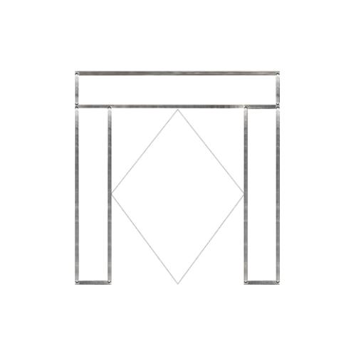 MAZTERDOOR วงกบประตูไม้เนื้อแข็ง ขนาด280X235 cm.  SET4