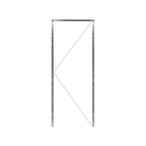 MAZTERDOOR วงกบประตูไม้เนื้อแข็ง  ขนาด 80x260 cm. SET 1