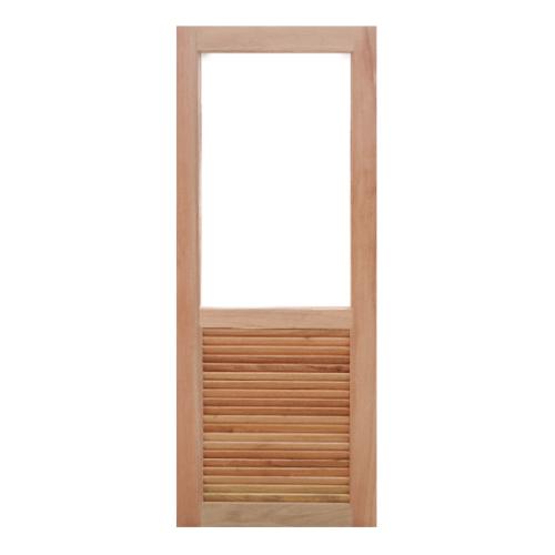 MAZTERDOOR ประตูไม้สยาแดงกระจกฝ้า ขนาด 80x200cm. MD 08/1