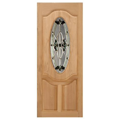 MAZTERDOOR ประตูไม้จาปาร์การ์กระจก ขนาด 90X200cm. ORCHID-08