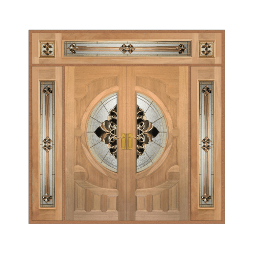 MAZTERDOOR ประตูไม้จาปาร์การ์กระจก SET4  ขนาด 240X245cm. VANDA-05