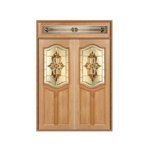 Masterdoors ประตูไม้นาตาเซีย ลูกฟักพร้อมกระจก 160x240cm.  SET 2 GENUS-02