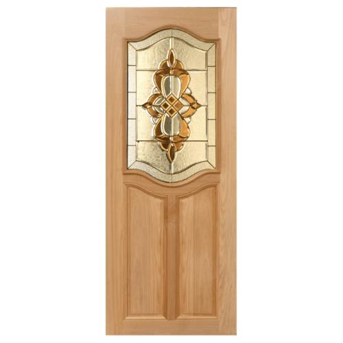 MAZTERDOOR ประตูไม้สยาแดง ลูกฟักพร้อมกระจก  ขนาด 90x200cm.  GENUS-02