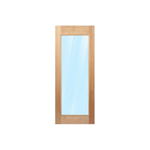 MAZTERDOOR ประตูไม้สยาแดง บานเรียบพร้อมกระจกใส   ขนาด 110x200cm.