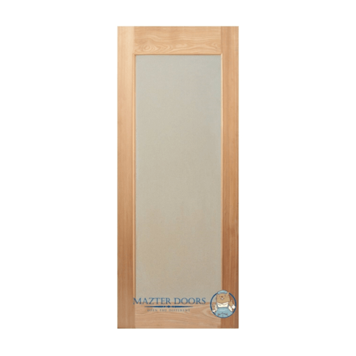 MAZTERDOOR  ประตูไม้สยาแดง พร้อมกระจกเต็มบาน ขนาด 90x220ซม. MD-10/1