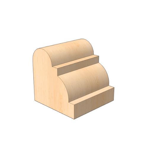 MAZTERDOOR คิ้วตกแต่ง-ไม้สัก (ลูกฟัก) 5/8x5/8x6.5 ฟุต M.0513