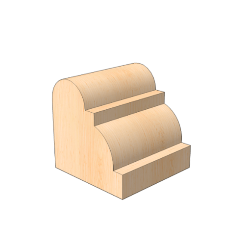 MAZTERDOOR คิ้วตกแต่ง-ไม้สัก (ลูกฟูก)5/8x5/8x8 ฟุต M.0513