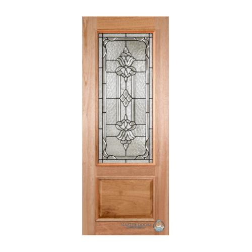 MAZTERDOOR ประตูกระจกไม้สยาแดง ขนาด 80x200 cm. LOTUS-10