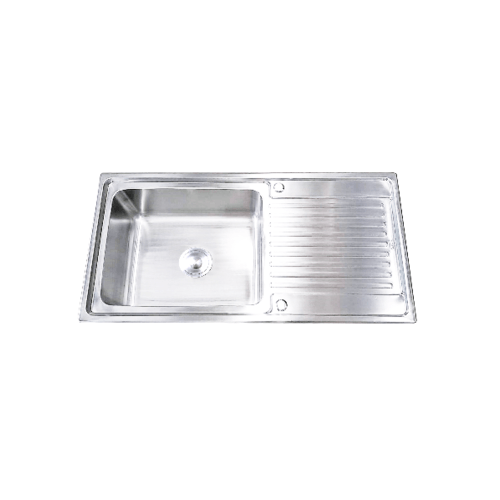 TECNO+ อ่างล้างจาน 1 หลุม1ที่พักTNS 1050 SS Sink TNS 1050 SS