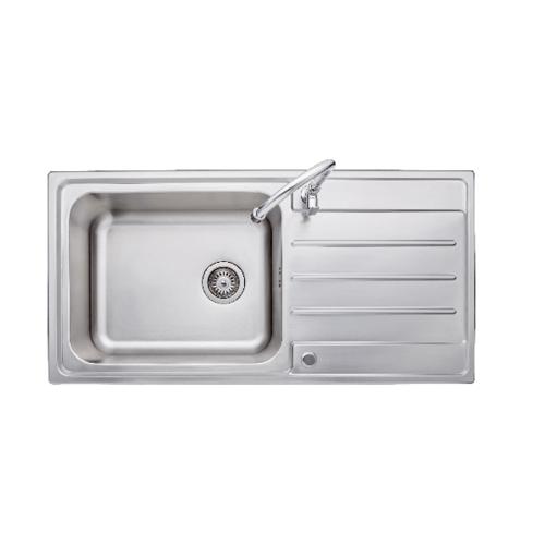 AXIA อ่างล้างจาน 1 หลุมมีที่พัก  RIVIERA 100