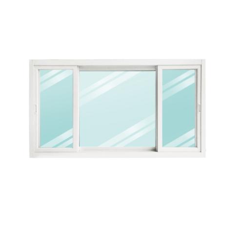 Wellingtan หน้าต่างอะลูมิเนียม บานเลื่อน ขนาด 180cm.x100cm. พร้อมมุ้ง SFS WGW1810-3P สีขาว