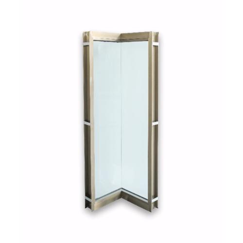 Wellingtan ประตูช่องแสงเข้ามุมอลูมิเนียม ขนาด 50x50x200cm. สีแชมเปญ  CGD050520