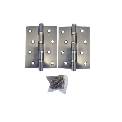 JANES บานพับ 4x3x2-4BB SN  แกนเล็ก หัวตัด แพ็ค 2 สีโครเมี่ยม