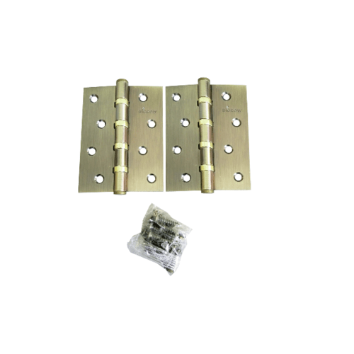 BIGROW บานพับ  4x3x2-4BB AB แกนเล็ก หัวตัด แพ็ค 2 สีทอง