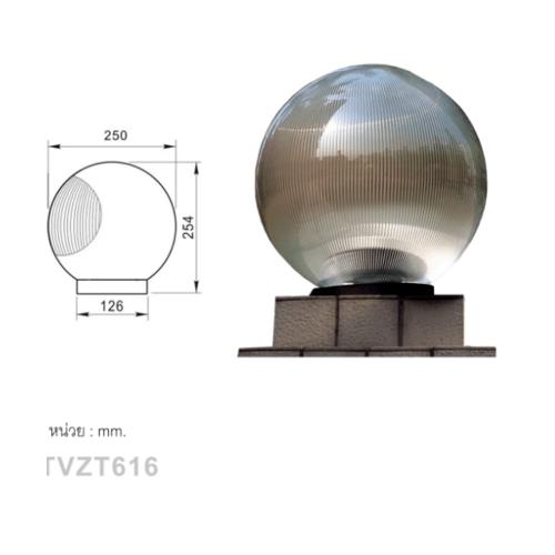 V.E.G โคมไฟหัวเสา TVZT616