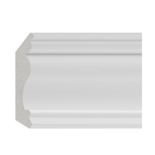 GREAT WOOD ไม้บัวบน PS ขนาด  70x14x2900 mm(กxหนาxย) JC335-W1 สีขาว