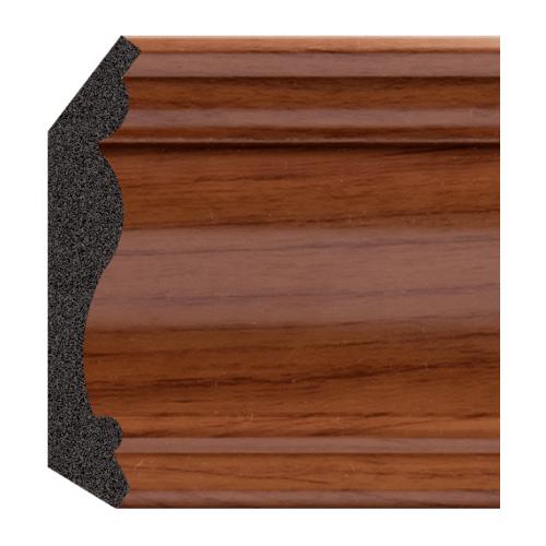 GREAT WOOD ไม้บัวบน PS ขนาด  70x14x2900 mm(กxหนาxย) JC335-3 สีน้ำตาลเข้ม