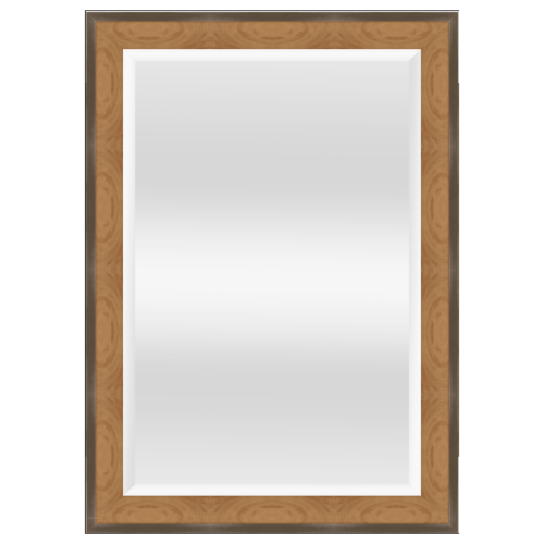 NICE กระจกเงามีกรอบ สีลายไม้  ขนาด 60x90 cm.  6107-81387T