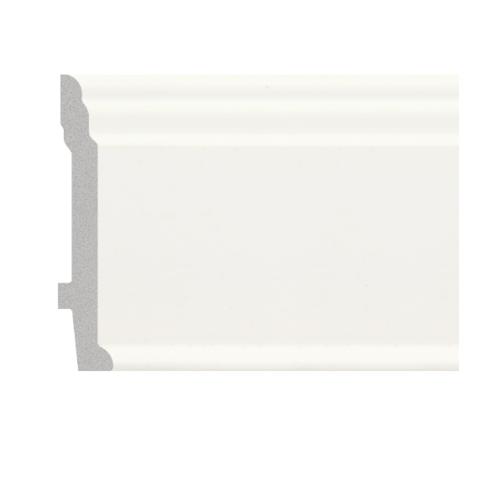 GREAT WOOD บัวพื้น ขนาด  89x11.5x2900mm  JC192-W1 สีขาว