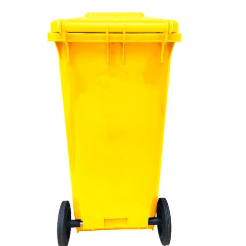 ICLEAN ถังขยะฝาเรียบ 120ลิตร XDL-120-14Y  สีเหลือง