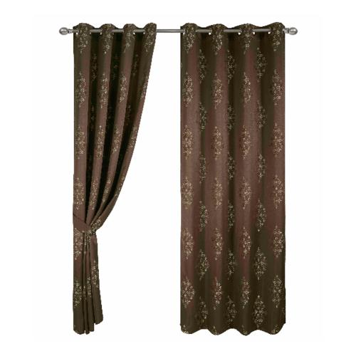 Davinci ผ้าม่านหน้าต่าง  150x160ซม.  Gorm  - สีน้ำตาล