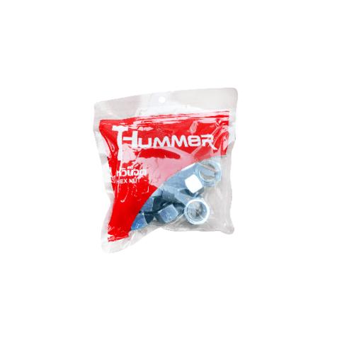 HUMMER หัวน็อต HM ขนาด M22 (เกลียวมิล) (1KG/ถุง) HN-M22 สีโครเมี่ยม