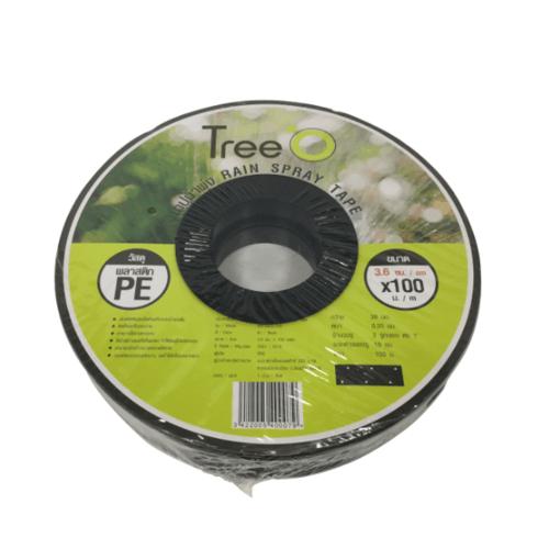 Tree O เทปน้ำพุ่ง ขนาด 36mm ยาว 100M RST3620-100  สีดำ