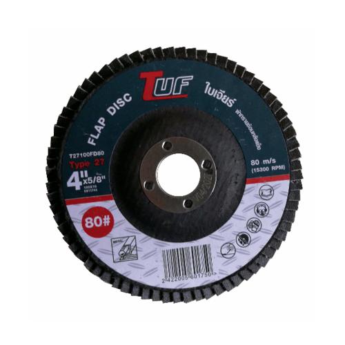 TUF  ใบเจียร์ผ้าทรายซ้อนหลังแข็ง T27-100x16x80P
