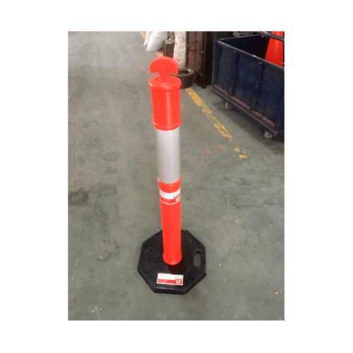 HUMMER เสาจราจร PE ขนาด 1100 mm. DTF01 สีส้ม