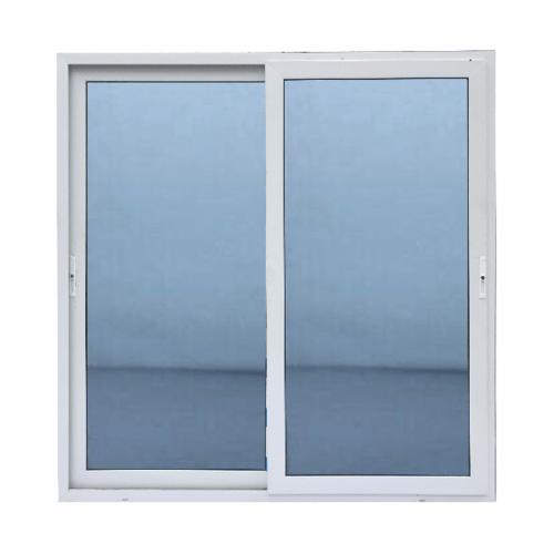 Wellingtan ประตูไวนิล บานเลื่อน SS  200x205cm. (กxส) กระจกสีฟ้าสะท้อนแสง  RBD002 สีขาว