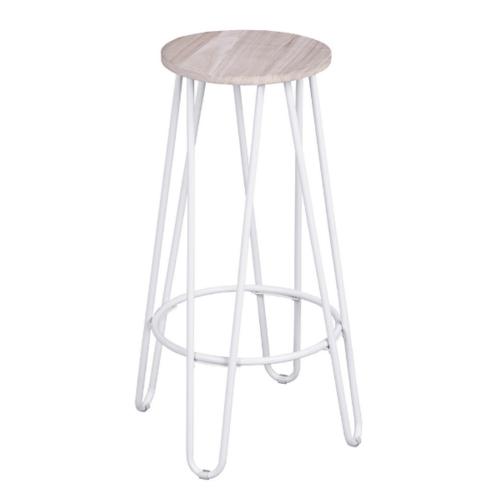 Delicato เก้าอี้บาร์สตูล  Essia 73  สีขาว