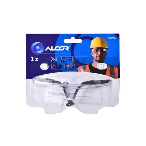 ALCOR แว่นตากันสะเก็ดแบบใส   A480013  สีดำ