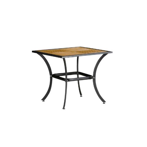 Delicato โต๊ะสนาม 4 ที่นั่ง ขนาด 80×80×72ซม.   HB09 สีไม้