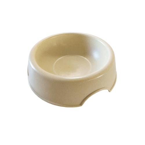 DUDUPETS ชามพลาสติก  ไซส์ M ขนาด 21×25.5×6.4ซม. PB002M สีครีม