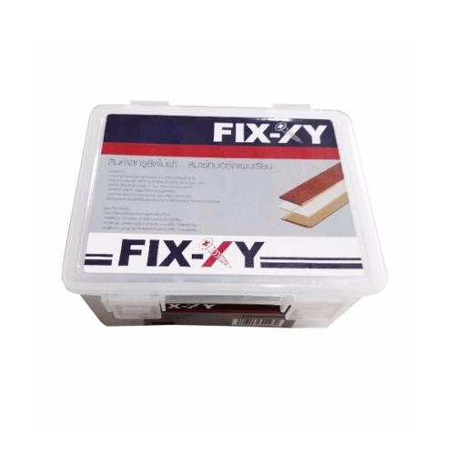 FIX-XY สกรูยึดไม้ฝา ปลายแหลม ขนาด #7 ยาว 32 มม. (500 ตัว/กล่อง) สีโครเมี่ยม