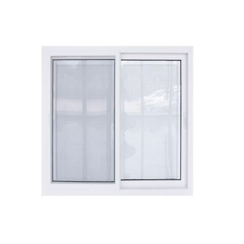 - หน้าต่างไวนิล  กระจกสองชั้นพร้อมมูลี่และมุ้ง ขนาด 1500x1100mm KWB1511-2P สีขาว
