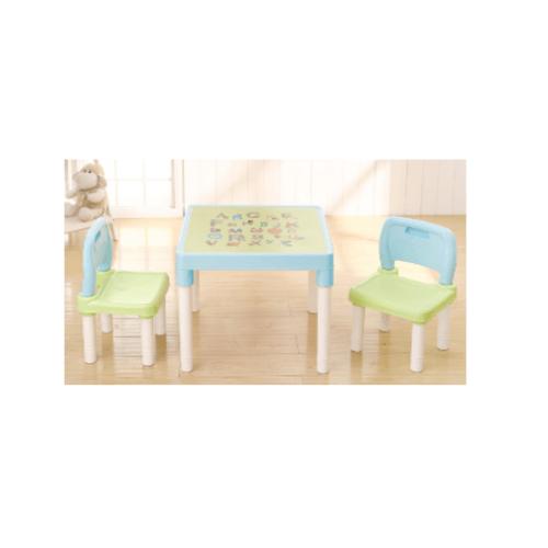 SMITH ชุดโต๊ะเด็กอนุบาลพร้อมเก้าอี้ 2 ตัว TG52119  สีเขียว-ฟ้า null