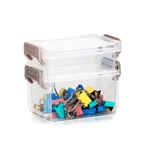 SMITH กล่องชั้นอเนกประสงค์ 2 ชั้น ขนาด 12.2x8.2x10.2ซม. TG54867 สีใส
